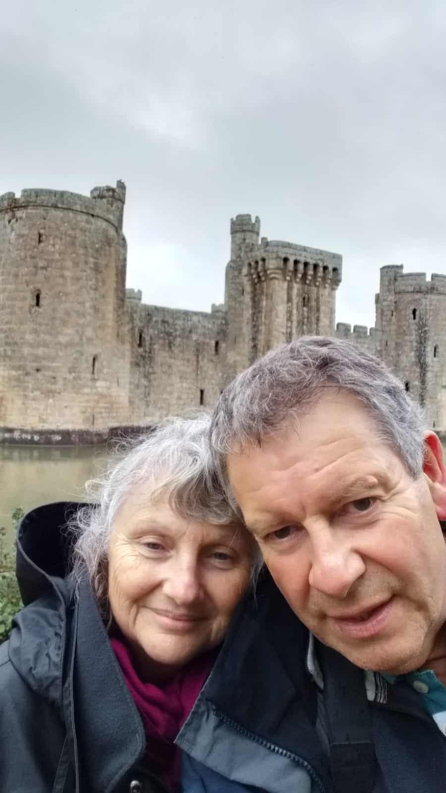 Carol in front of castle